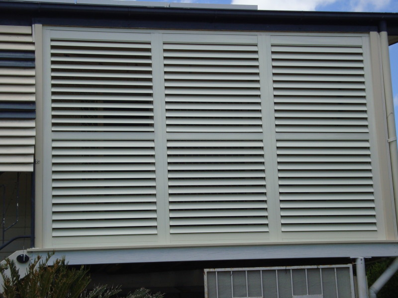 Weather Resistant External Aluminium Plantation Shutters Blinds Awnings Shutters Security