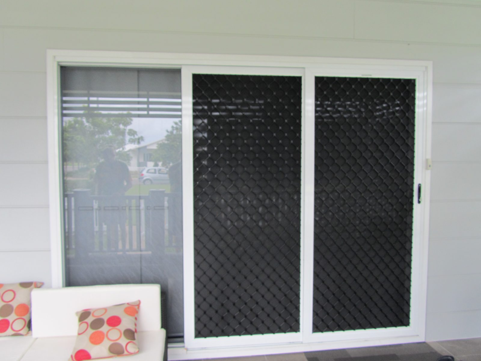 Security doors screens diamond grille stainless steel for Can french doors have screens