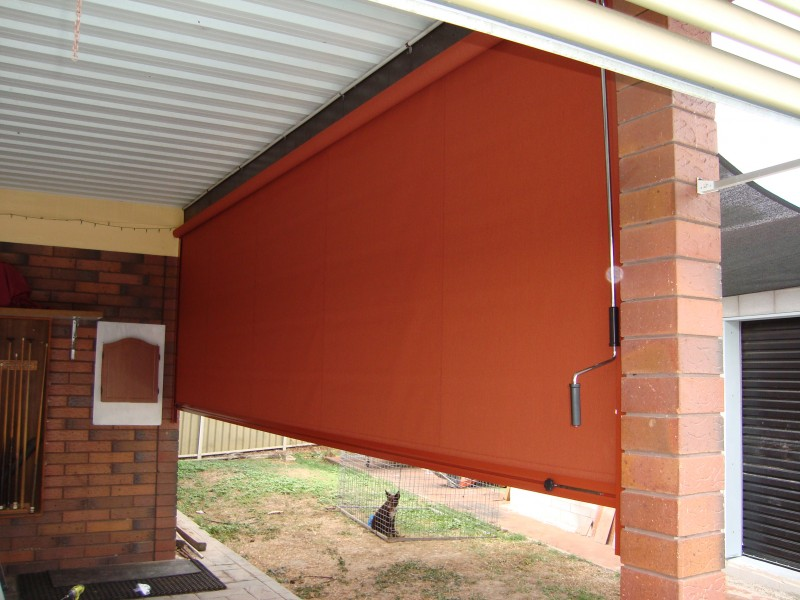 Side Channel and Wire Guide Fabric Roll Up Blinds for ...