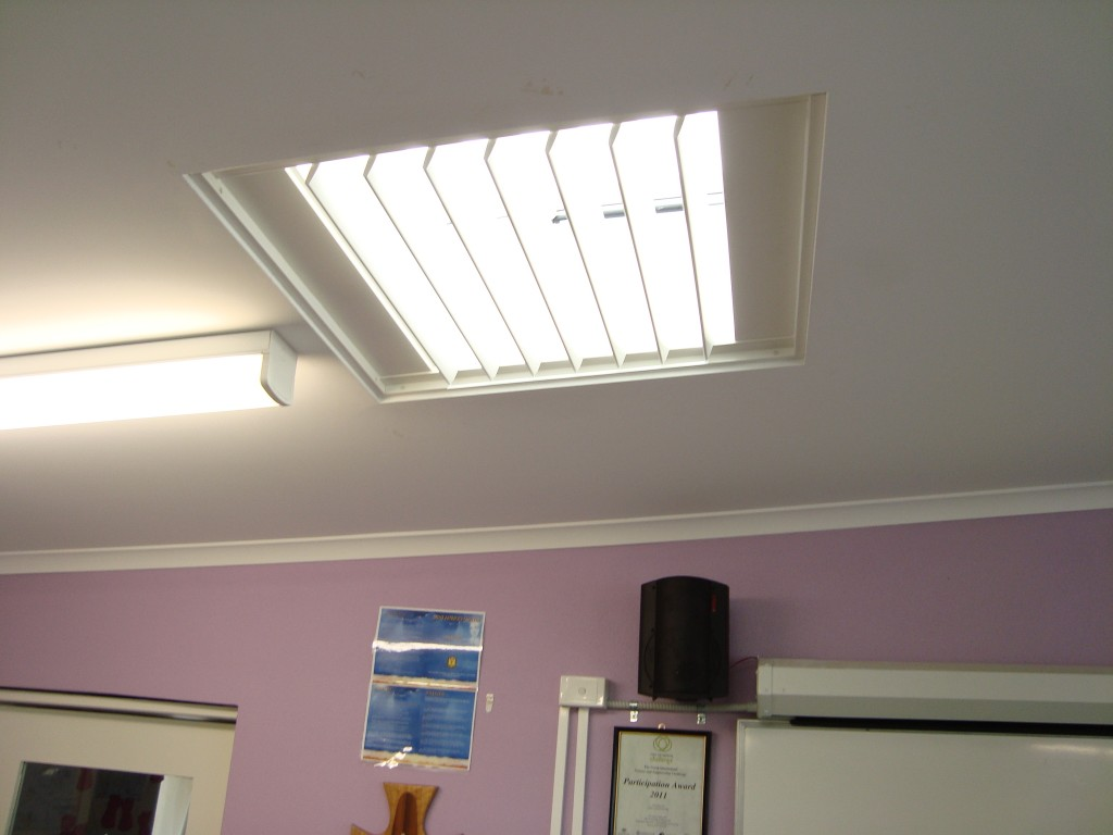 Shutter Fitted Into Skylight