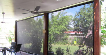 FABRIC ROLL UP PATIO BLINDS