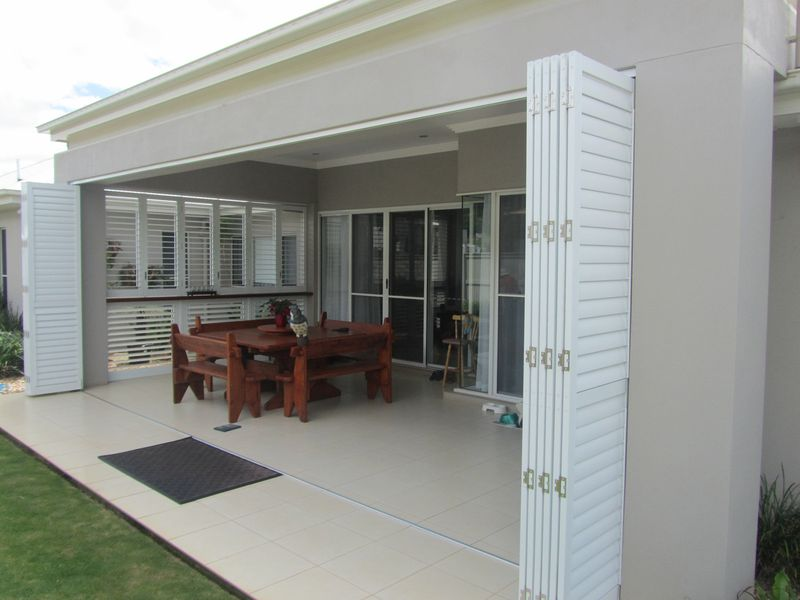 Aluminium External Plantation Shutters Blinds Awnings