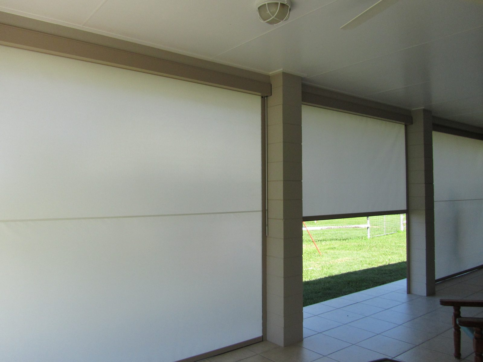 Crawley Blinds Zipscreen Fabric Roll Up Patio Blinds