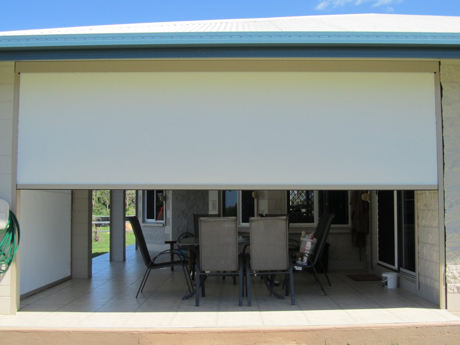 Side Channel And Fabric Patio Blinds Blinds Awnings