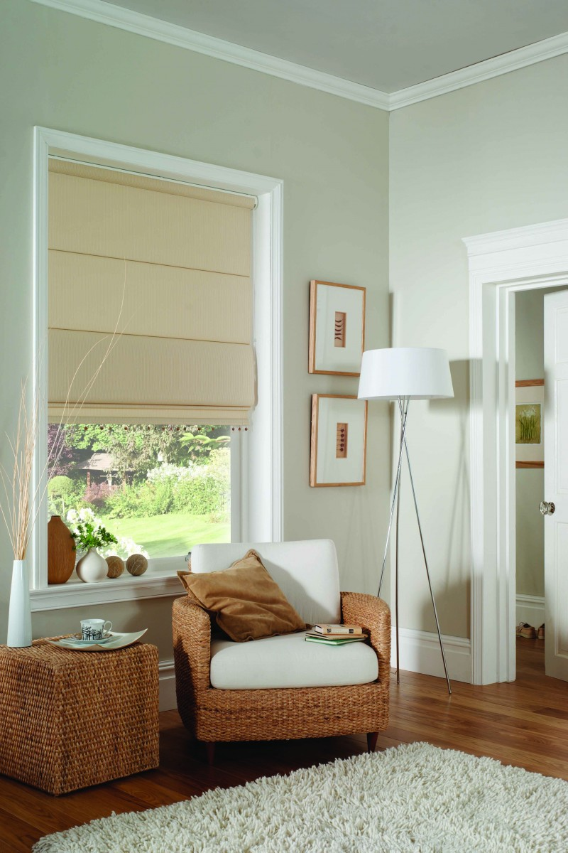 Plain Roman Blind Blinds Awnings Shutters Security