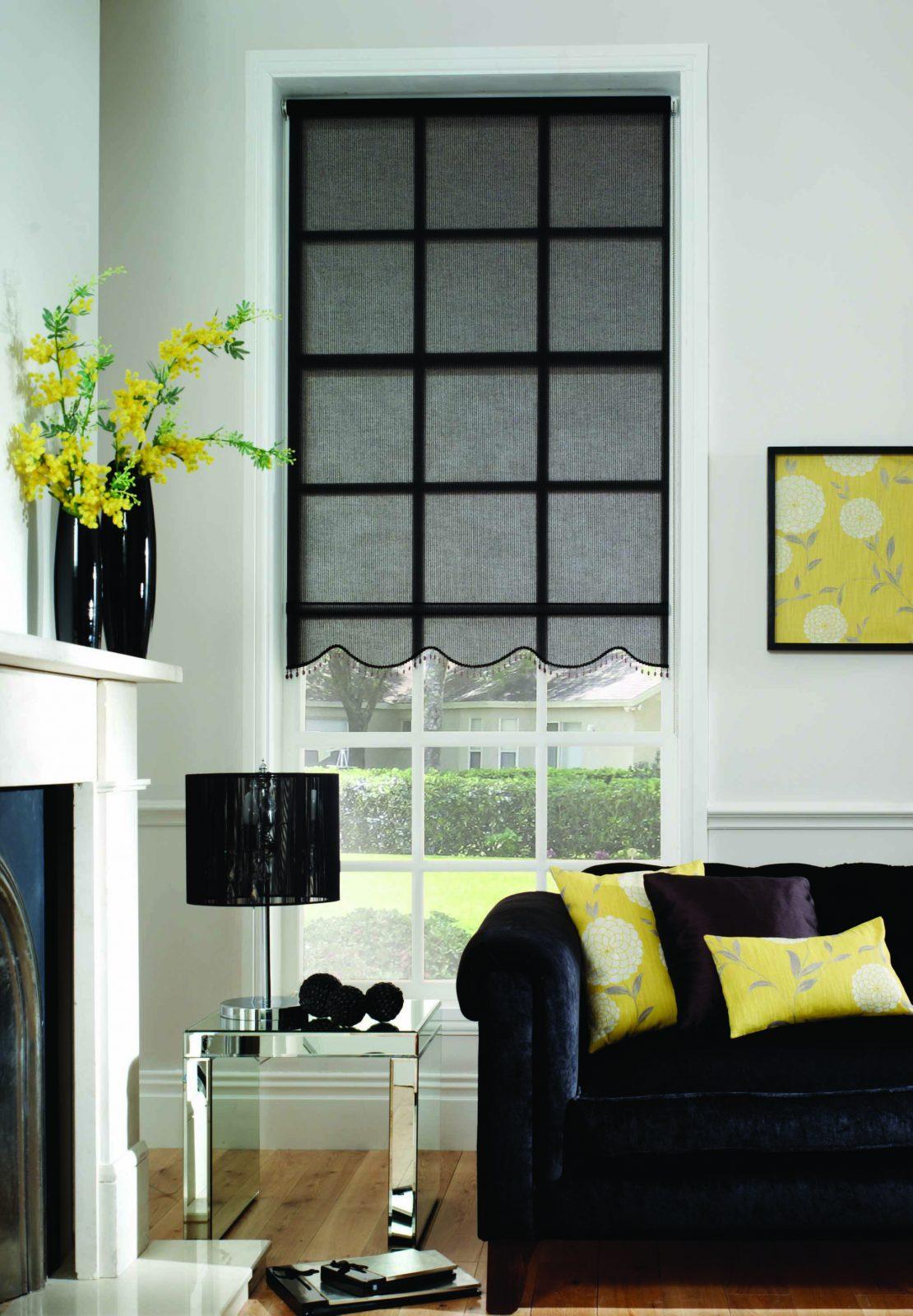Rollenblind Sunscreen Window Covering Inside Blind
